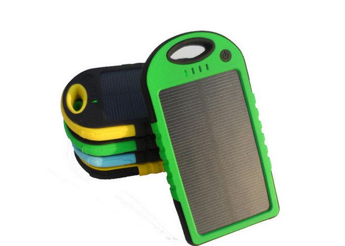 Customized 5000mah Portable Solar Power Banks Flashlignt Polymer Battery Charger