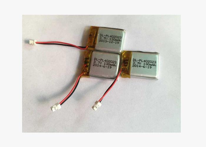 Ultra Slim Li Ion Polymer Battery Pack For Mobile Phone 3.7V 130mAh