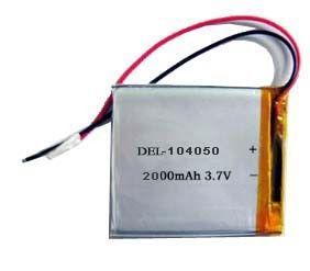 104050 3.7v Li-polymer Battery for Bluetooth Headset 2000mah