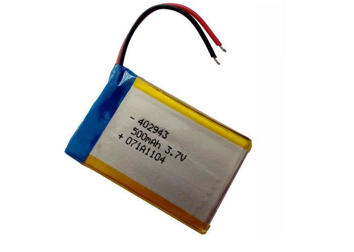 3.7V Solve Pack Li-po Battery Pack 500mah Lipo Cell A Grade Battery