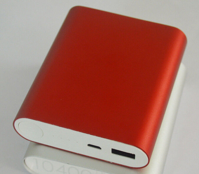 Aluminium Alloy Casing 2.4A 10400mAh Power Bank for Smartphone