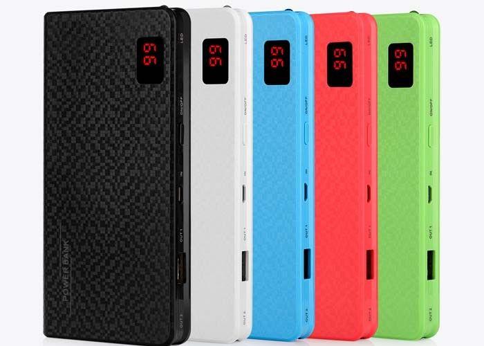 Colorfull Slim Square Charging Power Bank Digital Display Screen