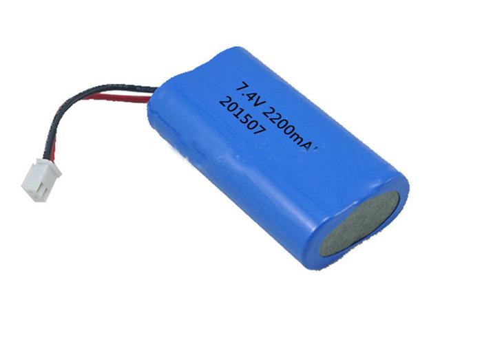Rechargeable 7.4V Li-ion Battery Pack 2200mah ICR 18650 For LED Light