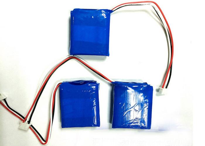500 Mah 3.7V Lithium Polymer Battery Pack , Portable Battery Pack