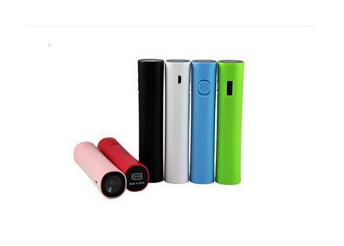 2600mAh 18650 Mobile Power Bank With Flashlight , Portable Power Banks