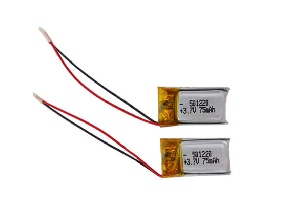 China Custom Mini Rechargeable Battery Pack 75mah Lithium Polymer Batteries distributor