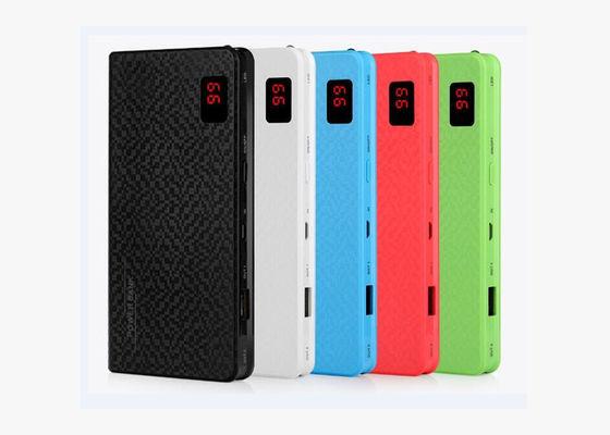 China Portable Li Polymer Battery 8000mAh Power Bank With LCD Display And Flashlight distributor