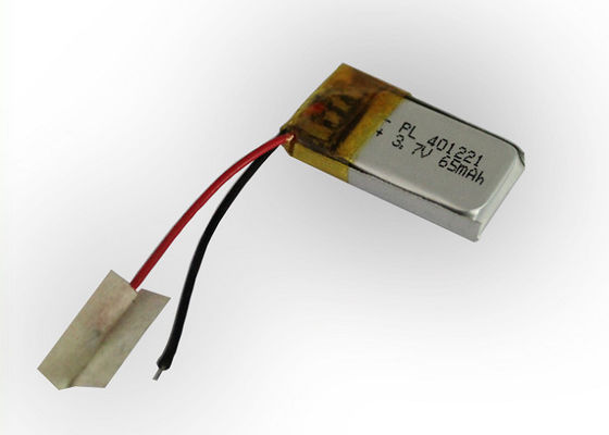 China 3.7V Small LithiumPolymerBatteryPacks 65mAh For Bluetooth Headset distributor